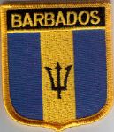 Barbados Embroidered Flag Patch, style 07.